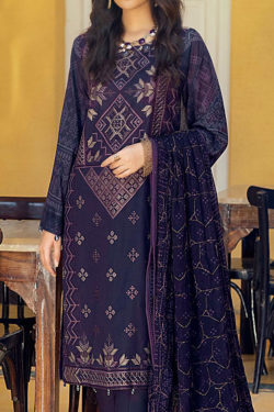 Salitex Faustina Embroidered Luxury Lawn